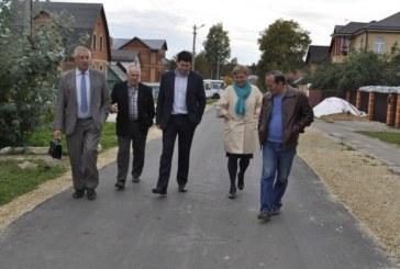 17 сентября представители администрации и Городской Думы приняли участие в приемке работ по ремонту асфальтового покрытия на ул.Победы