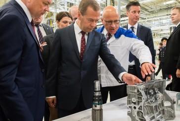 Дмитрий Медведев открыл в Калуге первое в России производство двигателей немецкой компании ООО «Фольксваген Груп Рус»