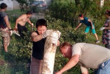 Жители Медыни внесли свой вклад и подготовили двор для благоустройства по программе «Городская среда»
