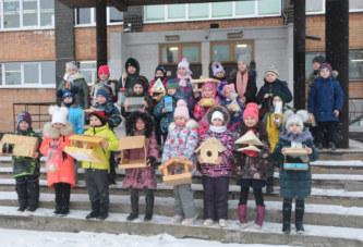 Учащиеся 1 «Б» класса балабановской школы №4 присоединились к ежегодной природоохранной акции «Покормите птиц зимой»