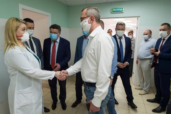 Владислав Шапша оценил потенциал развития балабановской поликлиники